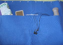 NavyRackPack curtain, split pack 7 blue